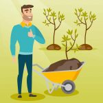 Man happy to plant a tree